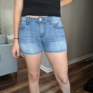 Polka Dot Jean shorts